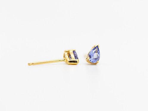 Tanzanite Stud Earrings14K