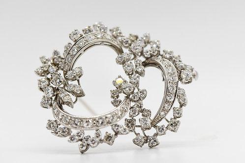 Diamond Brooch 18K