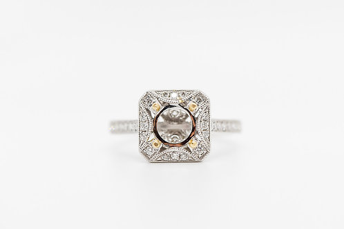 Diamond Semi Mount 18K