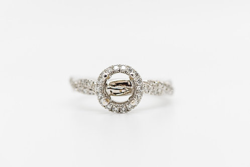 Diamond Semi Mount 14K
