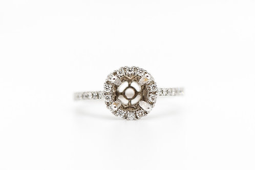 Diamond Semi Mount 14K