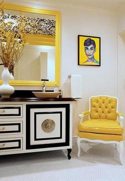 Baño. Retrato Audrey Hepburn