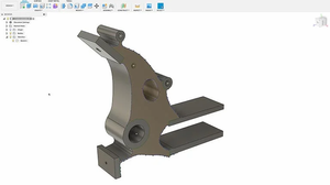 An example of what ultimately comes out of a generative design algorithm. In this part, the user gets a parametric Fusion 360 model of the outcome with an editable sketch of the generated geometry.