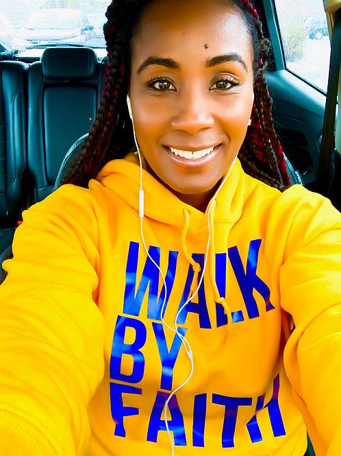 Gold walk by faith hoodie