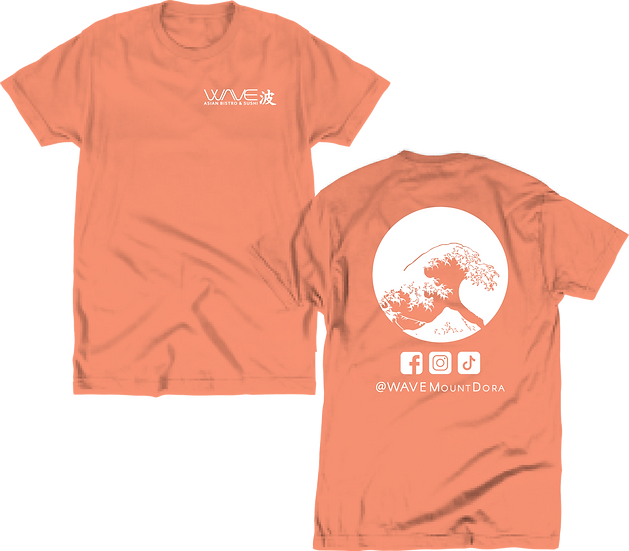 WAVE - Coral Tee (Front/Back)