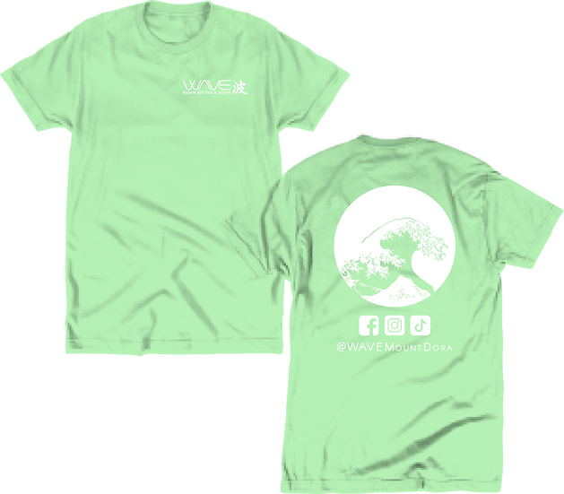 WAVE - Mint Tee (Front/Back)