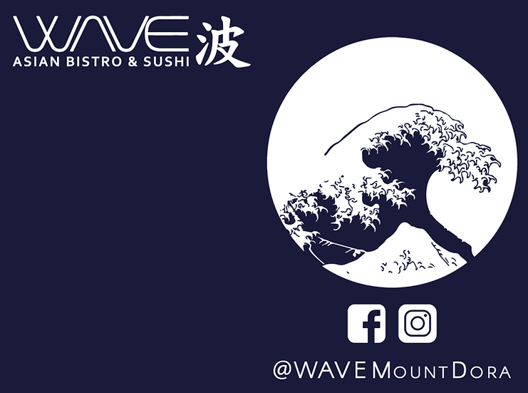 WAVE - Navy Tee (Front/Back)