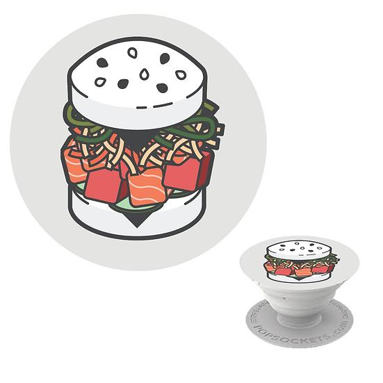 SUSHI BURGER POP SOCKET - WHITE