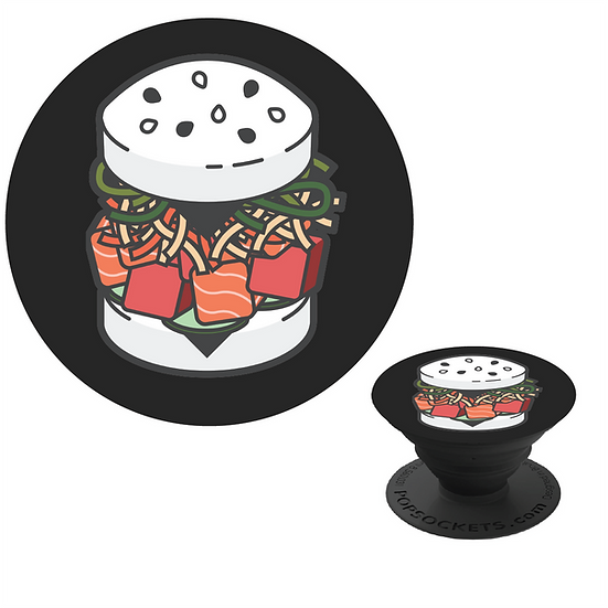 SUSHI BURGER POP SOCKET - BLACK