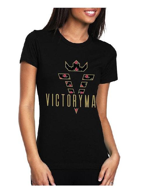 Black VM Rose Ladies' Tee