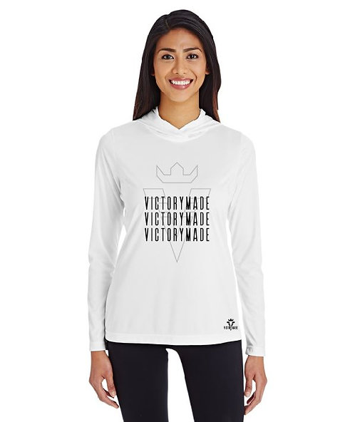 White Ladies' Multi Wordmark Performance Hoodie