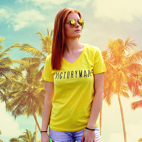 Yellow Ladies V-Neck