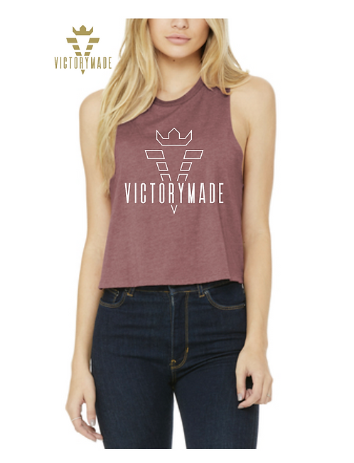Mauve VM Outlined Ladies Cropped Top