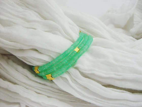 3 strands Chrysoprase