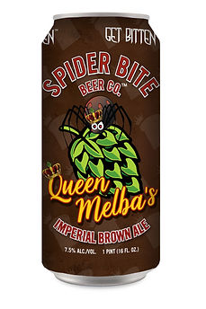 Queen Melba's Imperial Brown Ale Can