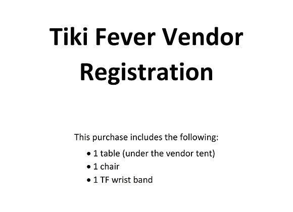Tiki Fever Vendor Registration (4 days)