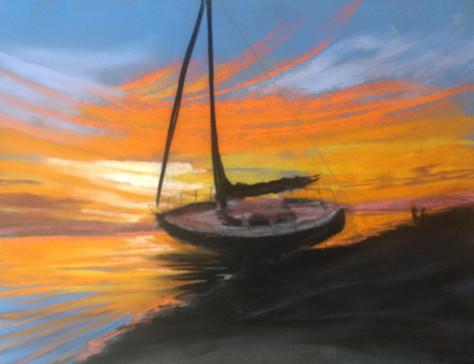 Sailboat Nocturne, Shawn Dell Joyce, Pas