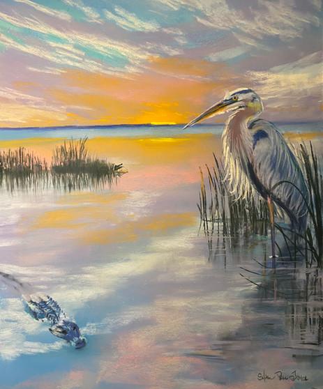 Lake Apopka, Pastel 18x24
