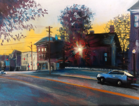 Downtown Nocturne, Goshen NY, Shawn Dell