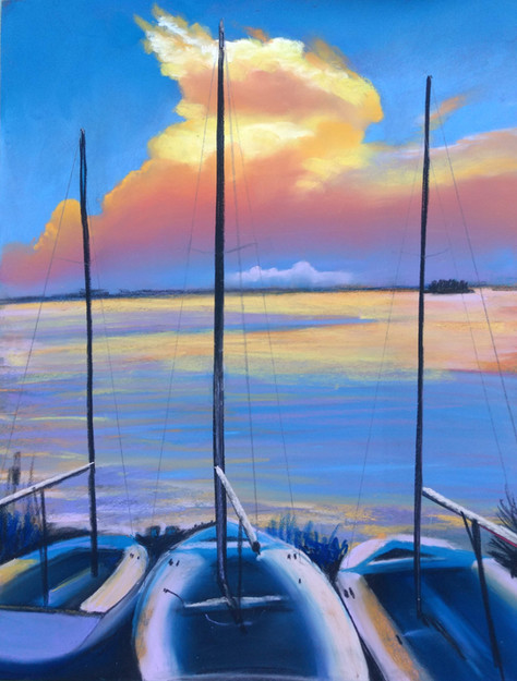 Beached Sails, Shawn Dell Joyce, Pastel, 11x14
