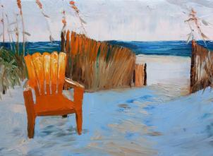 Sunset Seat, Shawn Dell Joyce, Oil on Ca