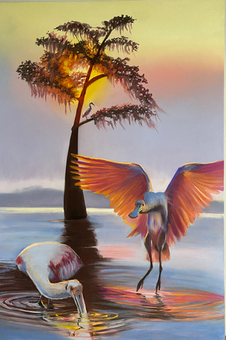 Roseate Sunrise, Shawn Dell Joyce, Pastel on  Ampersand Pastelbord 24x36.JPG