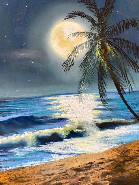 BeachNocturne_ShawnDellJoyce_Pastel_12x1