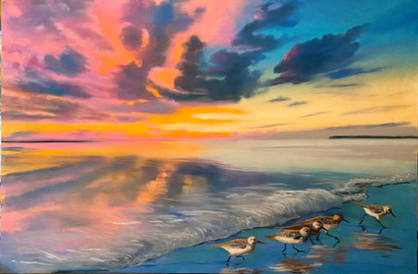 Piper's Sunset pastel 24x36