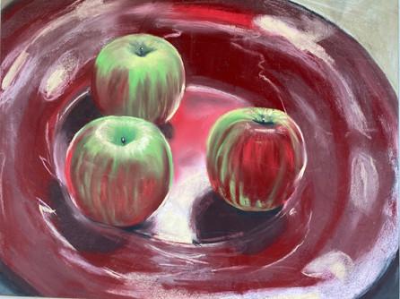 Red, Shawn Dell Joyce Still LIfe Pastel 12x16