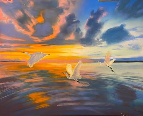 Three Graces, Shawn Dell Joyce, Pastel on Ampersand Pastelbord 12x16