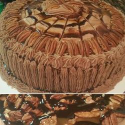 One word... decadent! Turtle cake