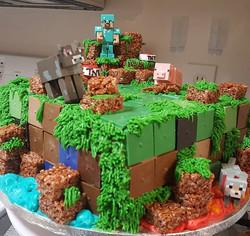 #Minecraft #birthday #birthdaycake #Satu
