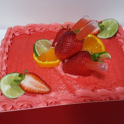 The mini #Strawberry #tequila #cake for