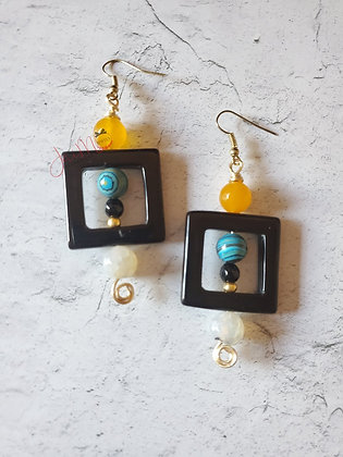 Malachite squared earrings