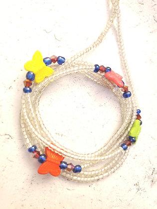 Crystal Butterflies waist beads