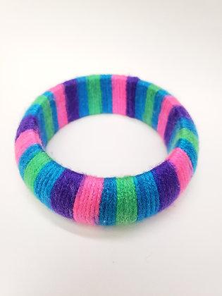 Bright yarn bangle