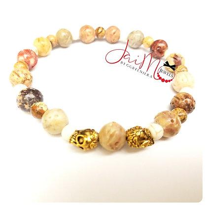 Natural skulls bracelet