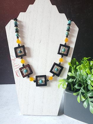 Malachite Squared necklace