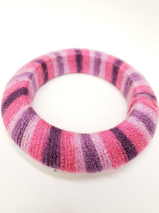 Pink/Purple yarn bangle