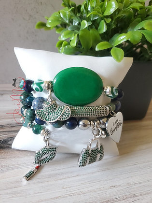 Blue Green Everything bracelet set