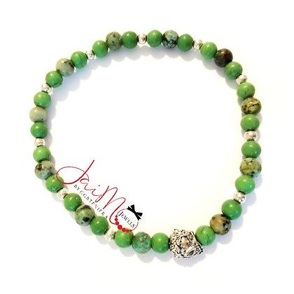 Lime skull bracelet