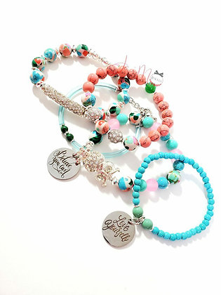 Wise and Bright bracelet set