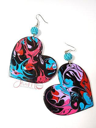 Colorful Blackness hapa earrings