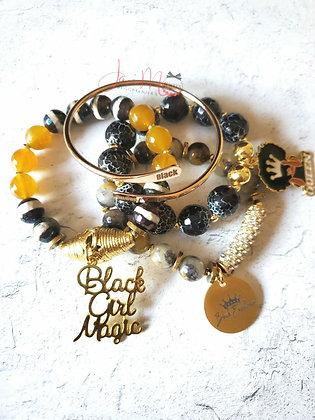 Black Gold bracelet set