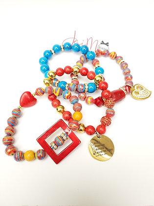Bold Malachite bracelet set