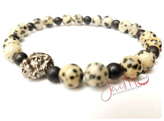 Dalmation lion bracelet
