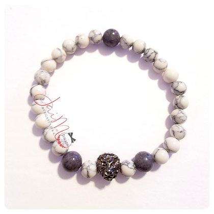 White and gray gemstone bracelet