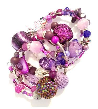 Purple Reign wrap bracelet