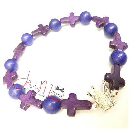 Purple Cross bracelet