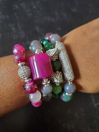 Berry Bling bracelet set